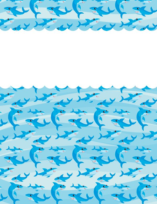 Free printable shark binder cover template. Download the cover in ...