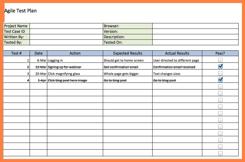 4+ free excel test plan template | Bussines Proposal 2017