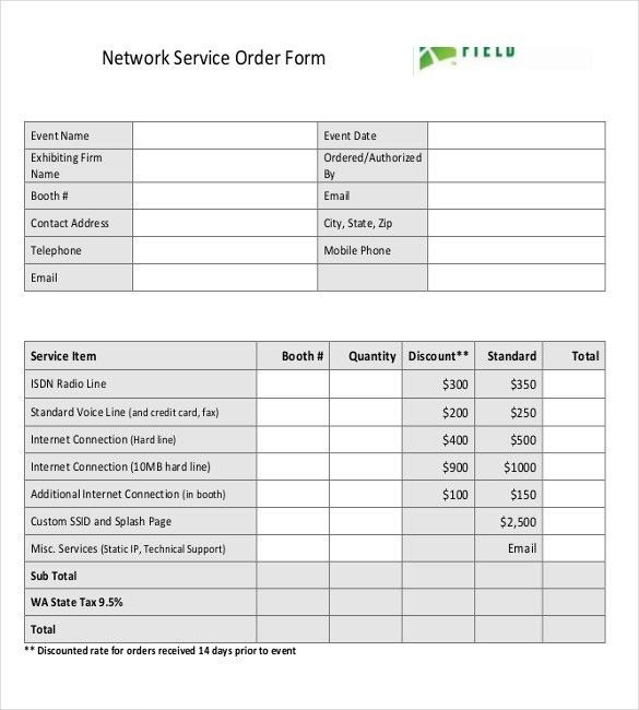 18+ Service Order Templates – Free Sample, Example, Format ...