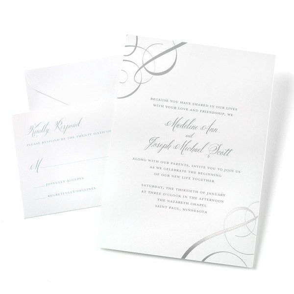 SILVER FOIL SWIRLS INVITE KIT 50CT | Gartner Studios