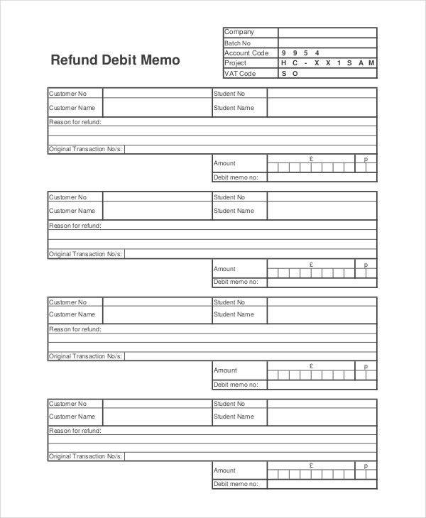 7+ Debit Memo Examples, Samples