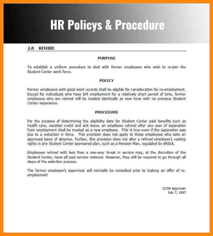 Sample Policy Manual Template. Policy Procedure Manual Template ...