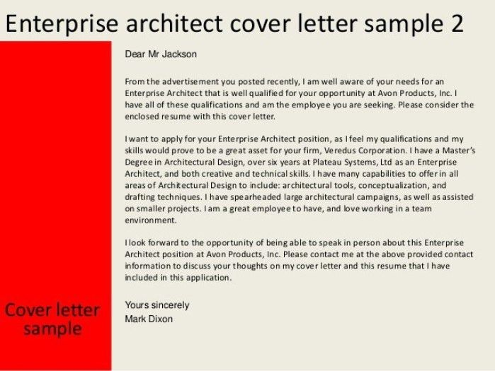 Architect Cover Letters