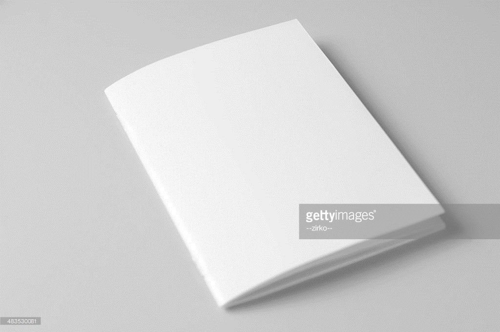 Blank Brochure On White Background Stock Photo | Getty Images