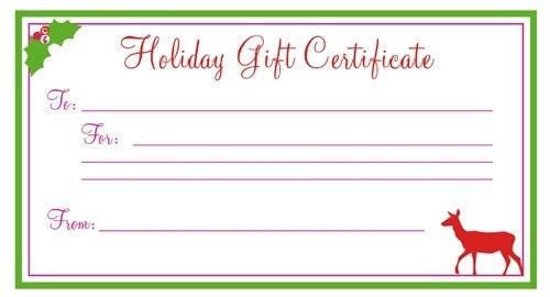 Printable Gift Certificate - gameshacksfree