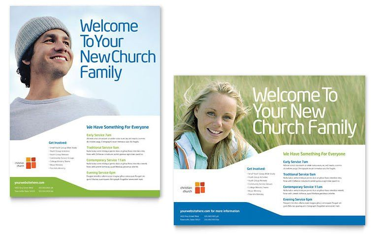 Church Youth Ministry Poster Template - Word & Publisher