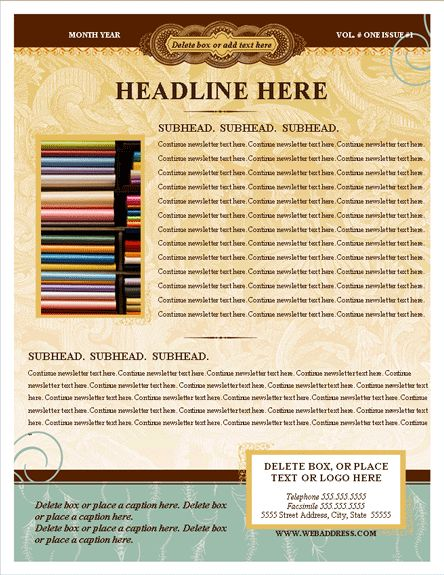 Free newsletter template for word 2007 and later – Newsletter Templates Word Free
