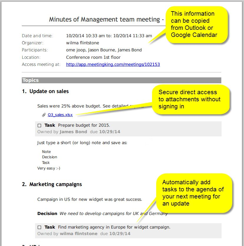 meeting minutes-summary-report - Meeting Agenda & Meeting Minutes ...
