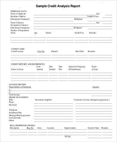 Sample Credit Report - 10+ Examples in PDF