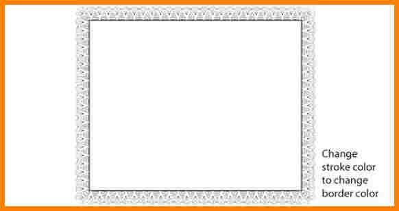3+ vector certificate border design | sample of invoice