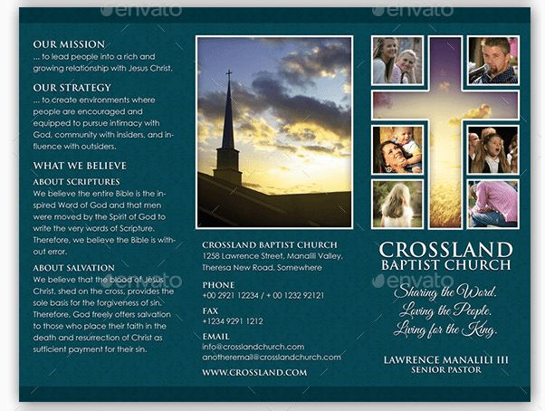 10 Popular Church Brochure Templates & Design – Free PSD, JPEG ...