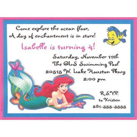 Little Mermaid Birthday Invitations | orionjurinform.com