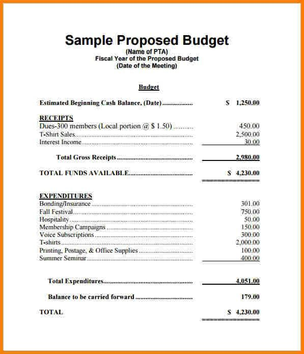 12+ budget proposal format sample | Proposal Template 2017