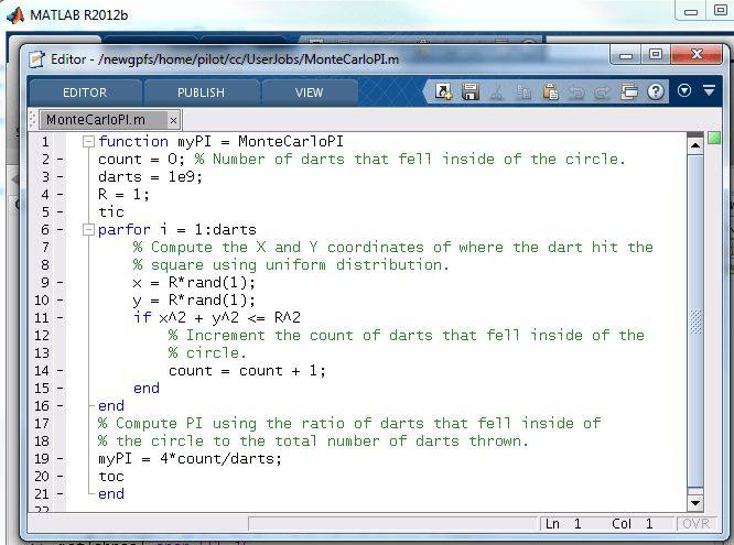 Matlab Parallel Old