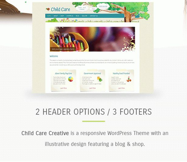 Child Care Creative - WordPress Shop Theme by dtbaker | ThemeForest