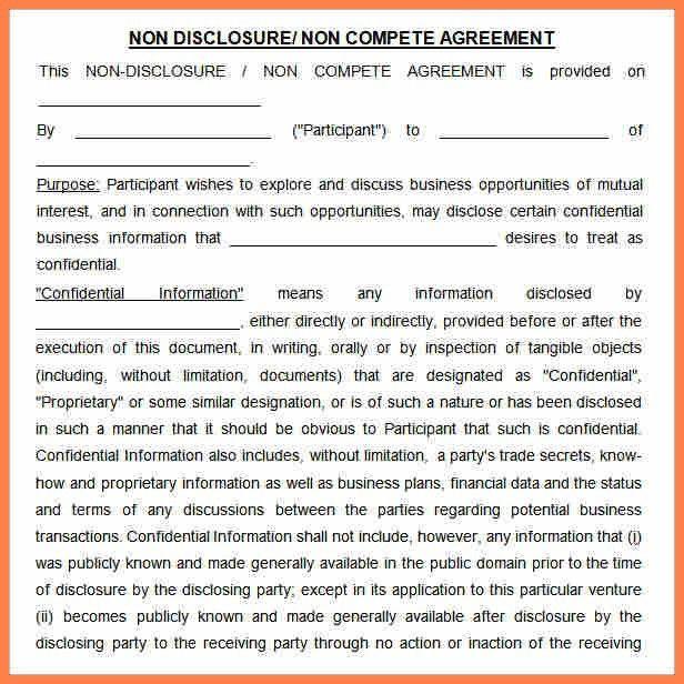 10+ non compete non disclosure agreement template | Purchase ...
