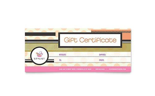 Beauty & Nail Salon - Gift Certificate Templates - Word & Publisher
