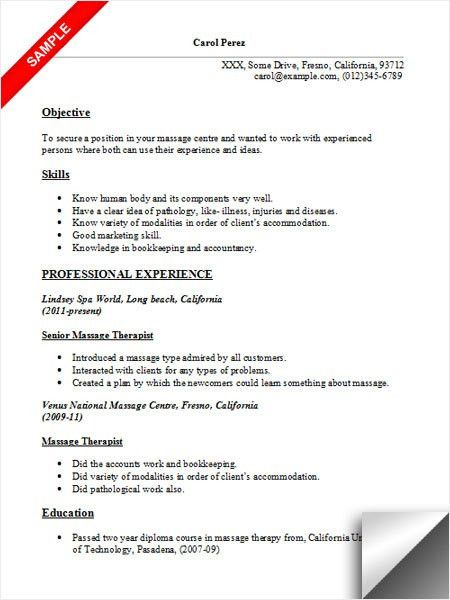 massage therapist resume example best business template. creative ...