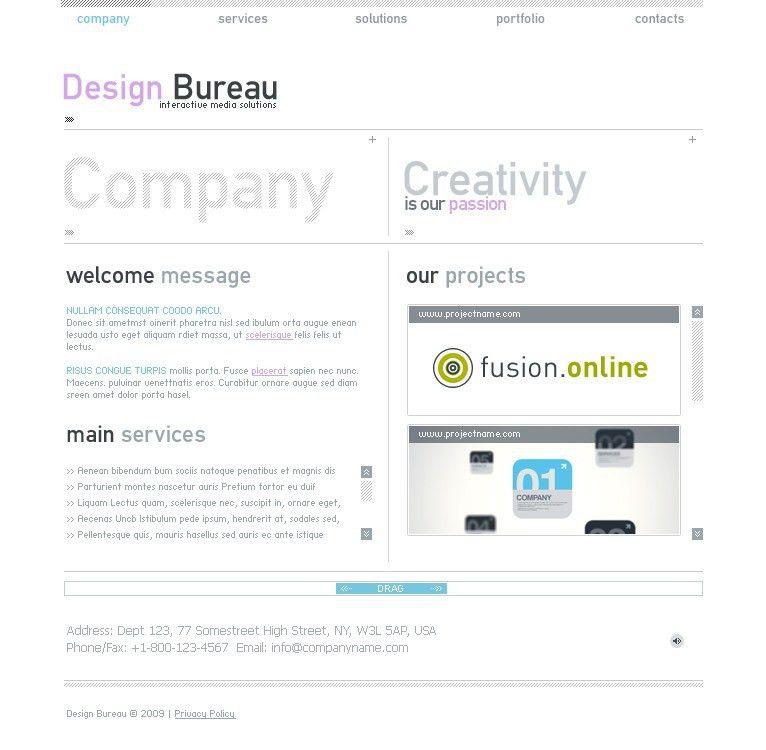 Website Template #22644 Design Bureau Company Custom Website ...