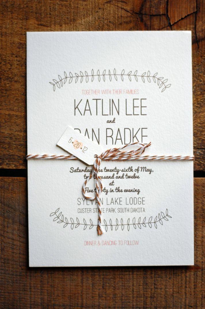 Simple Wedding Invitation Design - vertabox.Com