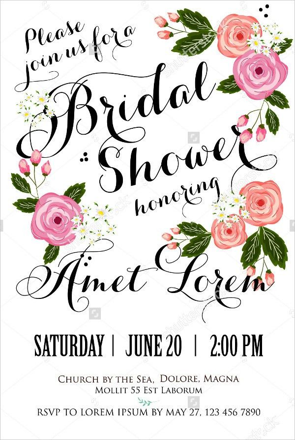 18+ Bridal Shower Invitations - Free PSD, Vector EPS PNG Format ...