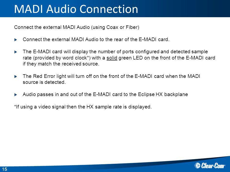 Eclipse HX E-MADI 64 card. - ppt download