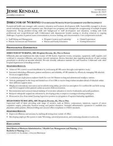 """Director of <a href=""""http://cv.tcdhalls.com/nursing-resume.html ..."""
