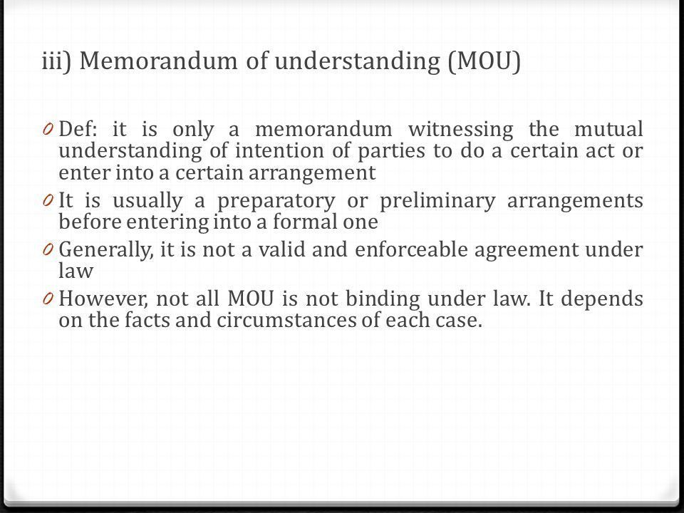 Mutual Understanding Agreement Format | Samples.csat.co