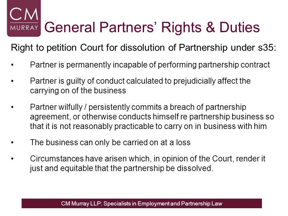 Partnership Law for Employment Lawyers - ppt download