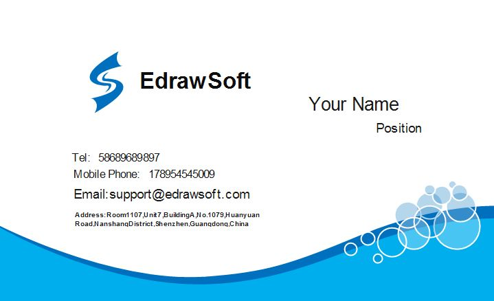 Blue Business Card Templates