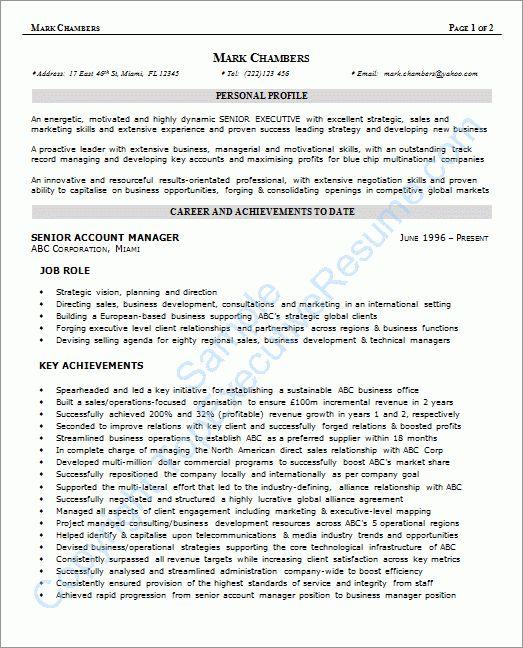 Perfect Sample Resume - Gallery Creawizard.com