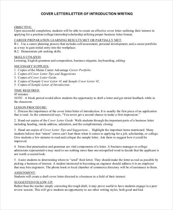 28+ [ Sample Cover Letter Introduction ] | Letter Of Introduction ...
