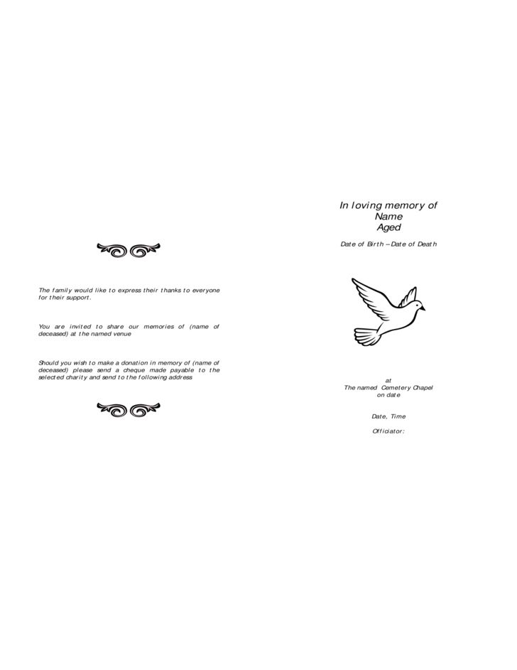 Funeral Order of Service Template - London Free Download
