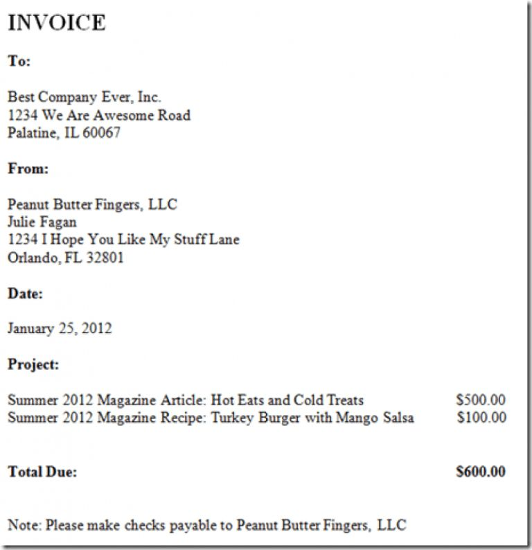 Download How to Write an Invoice for Freelance | rabitah.net