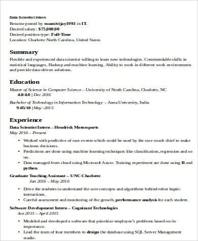 scientist resume template download science resume examples