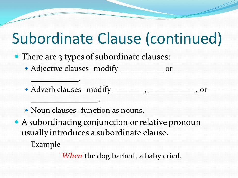A clause is a group of words that has a subject and a predicate ...