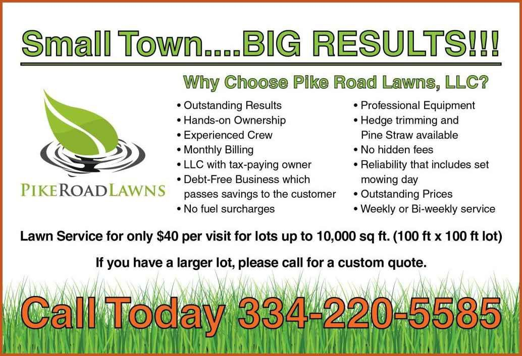 lawn care business cards | sop example