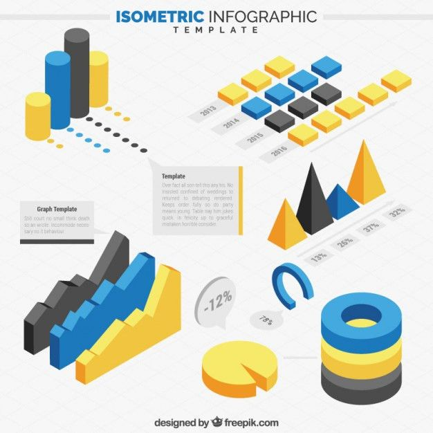 Isometric infographic elements template Vector | Free Download