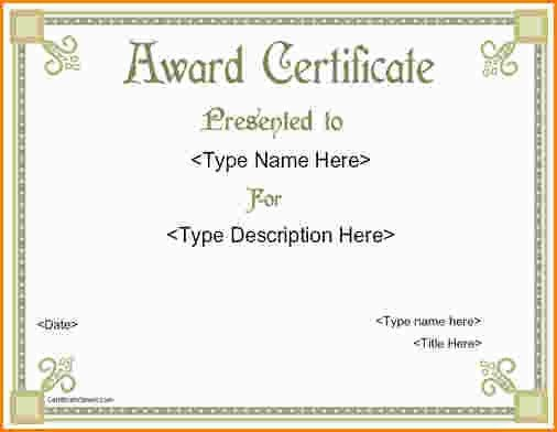 5+ award certificates templates free | paradochart