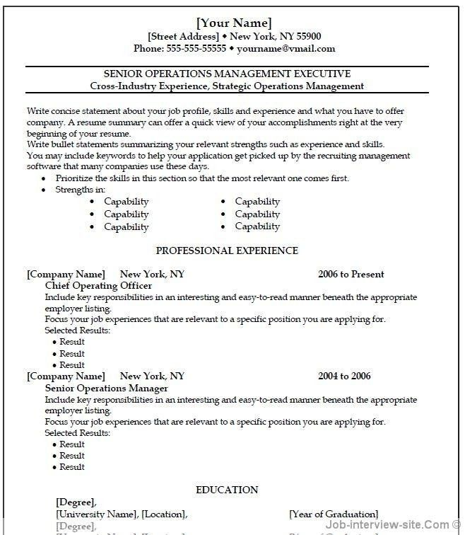 select template traditional. free resume format 2017. entry level ...
