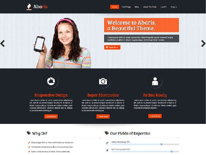 26 Free Modern Business Wordpress Themes   Web & Graphic Design ...