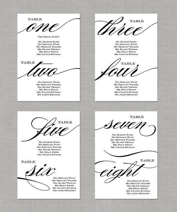 Best 20+ Printable wedding table numbers ideas on Pinterest ...