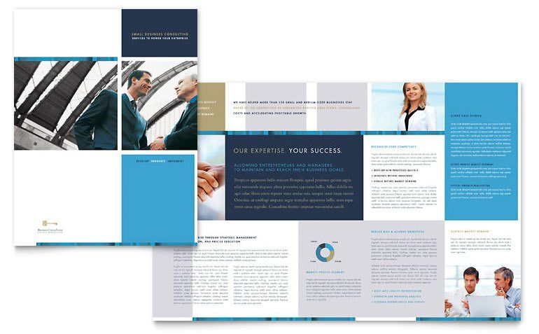 Small Business Consulting Brochure Template - Word & Publisher