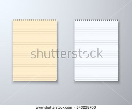 Illustration Photorealistic Paper Notebook Template Vector Stock ...