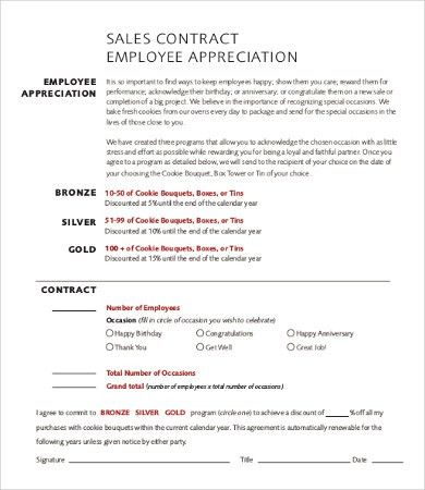 Employee Contract Template - 9+Free Word, PDF Documents Download ...
