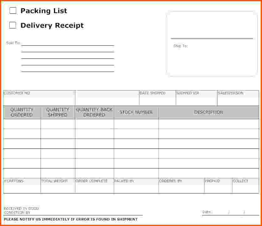 7+ delivery receipt template | Survey Template Words