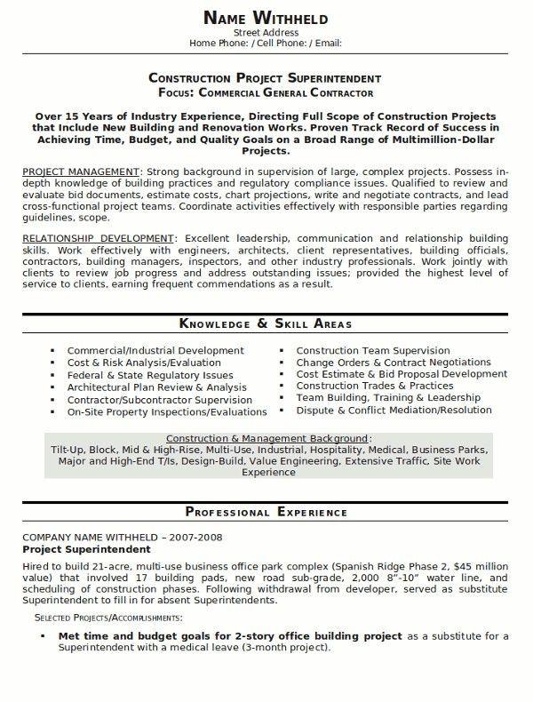 Construction Superintendent Job Description. Assistant ...