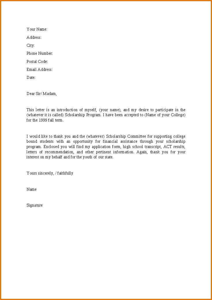 A formal letter applying for a bursary - Business Proposal ...