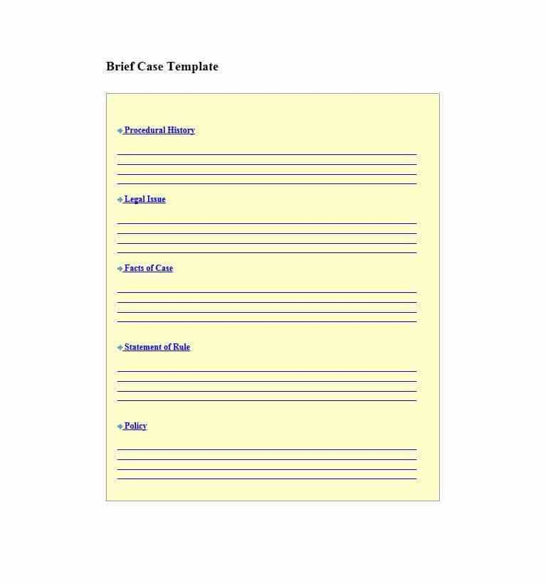Legal Brief Template. 411 best legal template images on pinterest ...