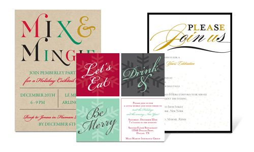 Corporate Invitations, Corporate Events, Holiday Parties, Holiday ...